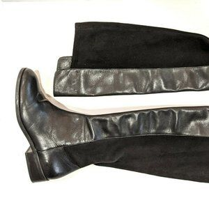 Sole Society Calypso Black Leather Knee High Boots